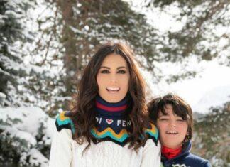 Elisabetta Gregoraci Instagram: in vacanza a Saint Moritz con suo figlio Nathan Falco