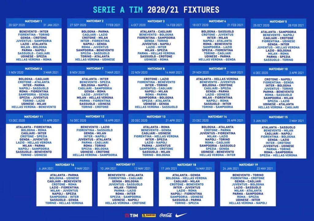 Pdf Calendario Serie A 2020 21 Foto Ufficiale E Tutte Le Partite Giornal It