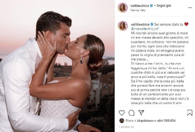 Beatrice Valli dedica a Marco