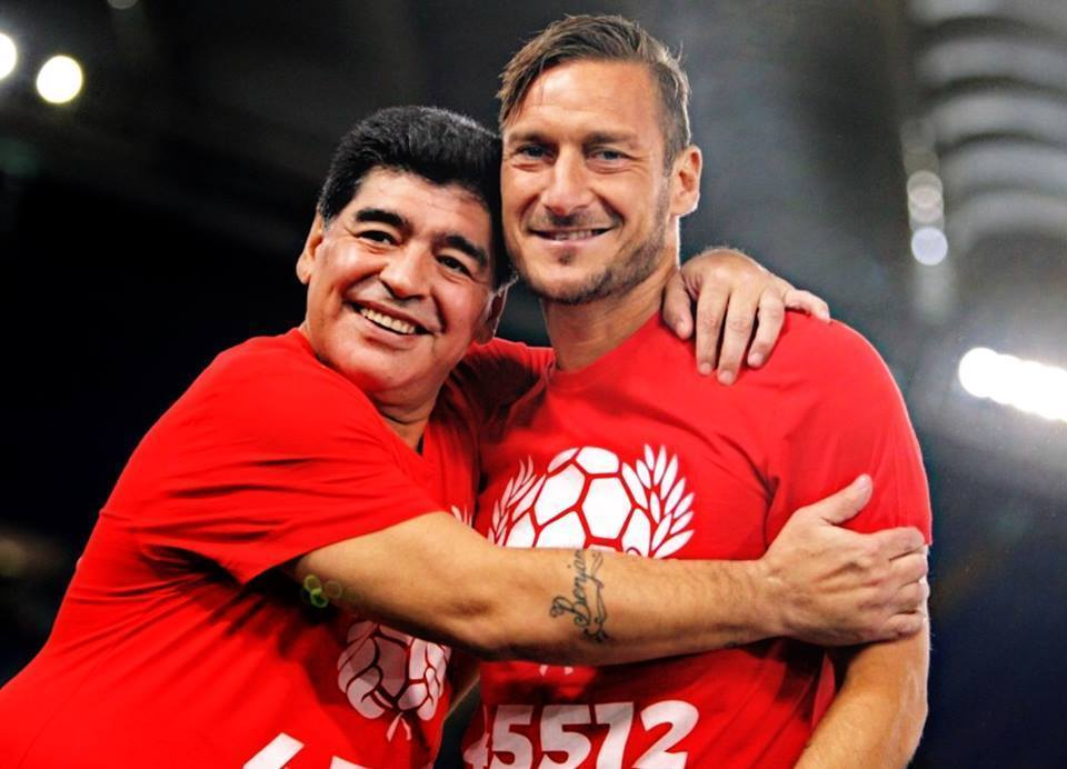 Francesco Totti ricorda Maradona